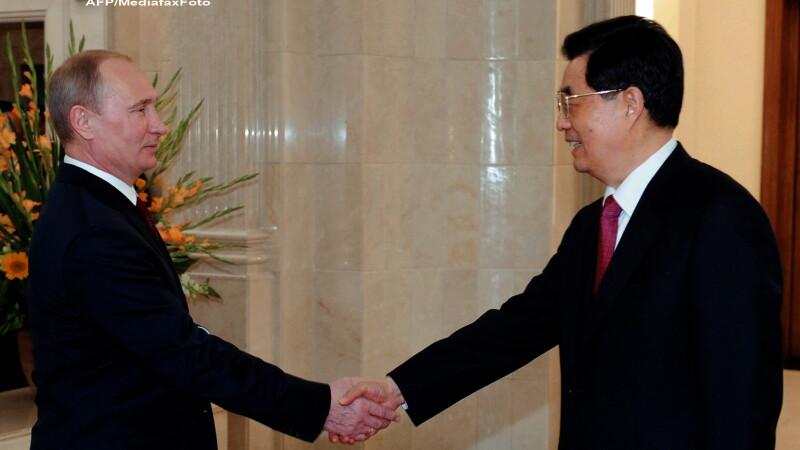 Vladimir Putin si Hu Jintao