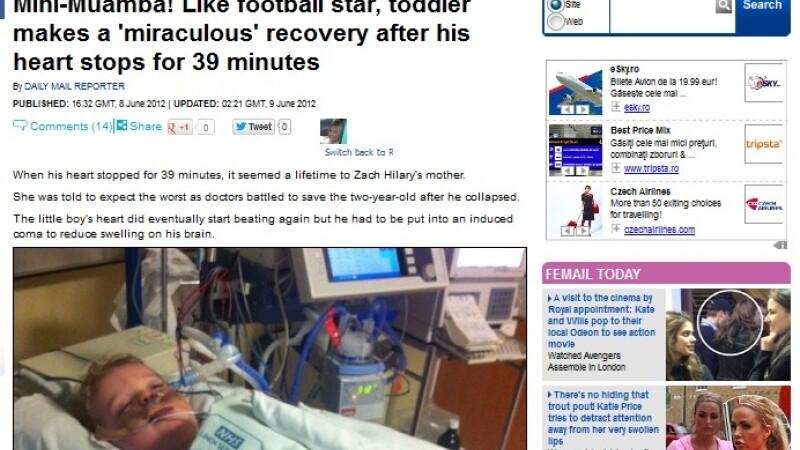 Miracolul care i-a uimit si pe medici. A inviat dupa ce inima NU i-a batut timp de 39 de minute