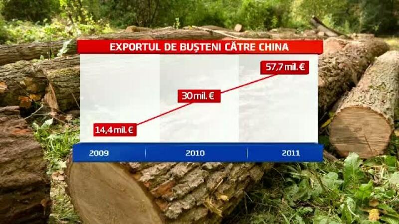 Romania trimite saptamanal sute de tone de lemn in China, care se intorc sub forma de mobila ieftina