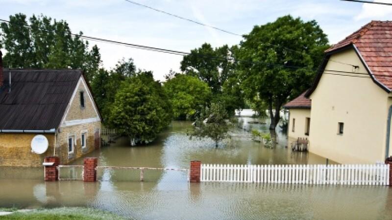 Cod galben de inundatii in Romania, emis pentru rauri din nord, nord-vest si sud-vestul tarii