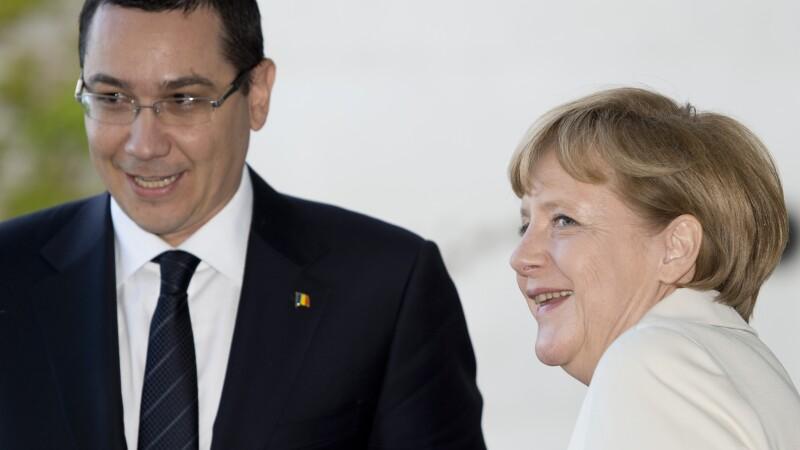 Victor Ponta, Angela Merkel