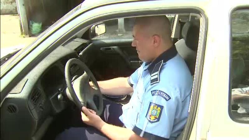 politist in masina