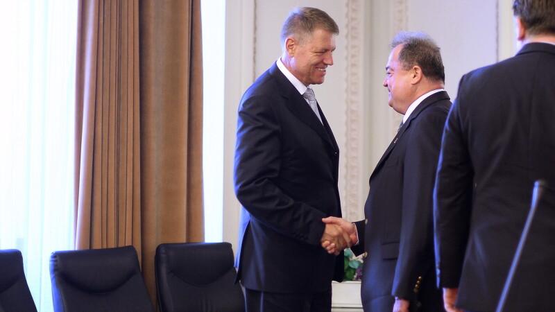 Klaus Iohannis si Vasile Blaga