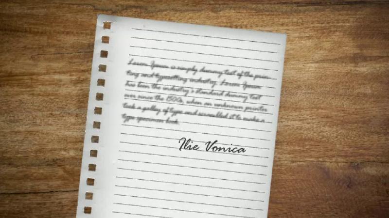 scrisoare adio Ilie Vonica, grafica