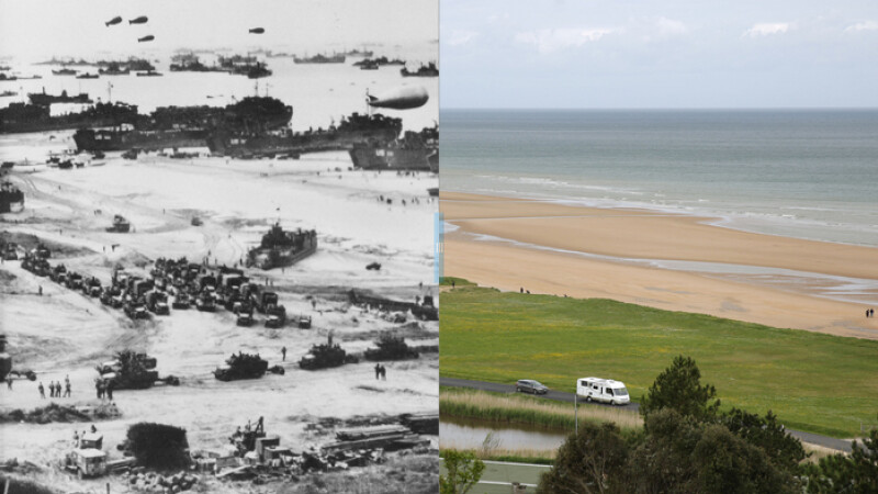 debarcarea din Normandia inainte si dupa