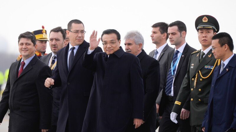 Premierul Chinei, Li Keqiang, si Victor Ponta