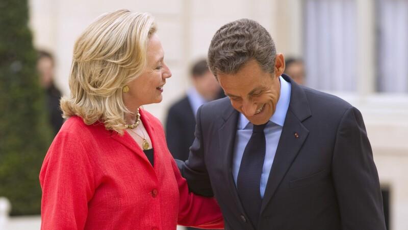 Hillary Clinton vorbeste fara perdea despre Nicolas Sarkozy, in noua ei carte: Ii plac