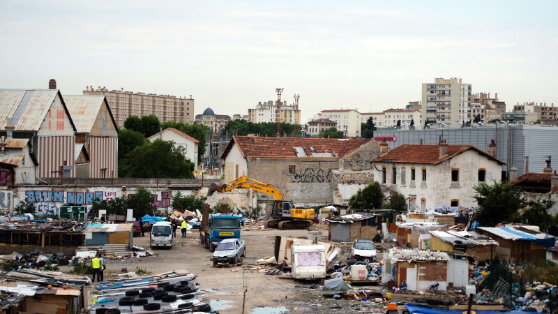 Tabara de romi in Franta