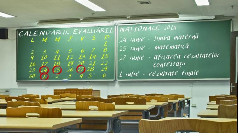 calendar evaluare nationala