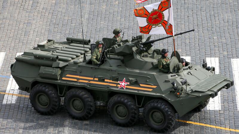parada militara Rusia 9 mai 2014 tanc