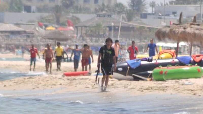 atacatorul din Tunisia - plaja
