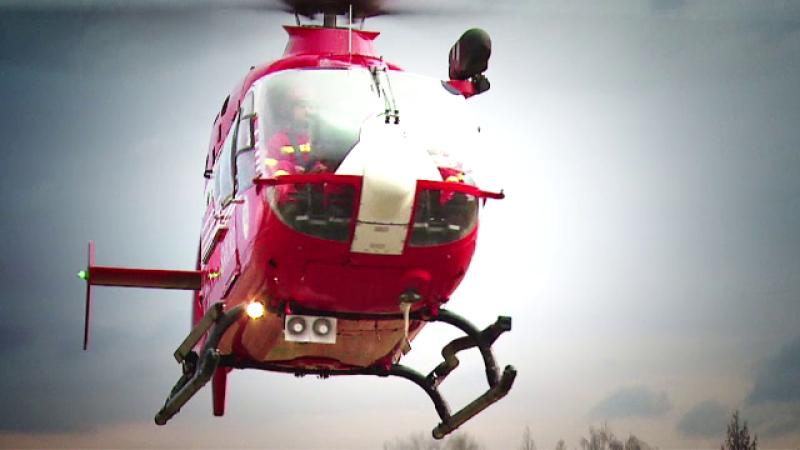 Accident pe Autostrada Soarelui. Elicopterul SMURD, trimis pentru un copil ranit