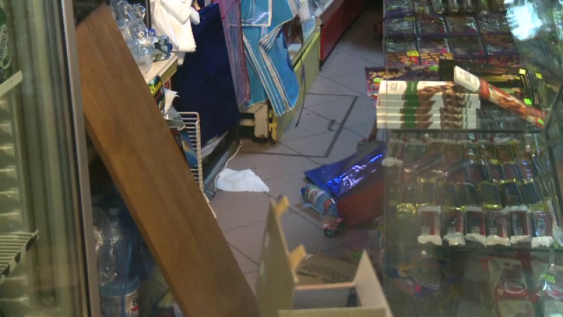 magazin alimentar devastat