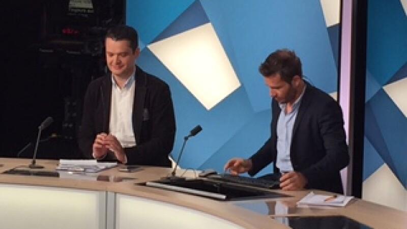 Lucian Lipovan la o televiziune din Franta