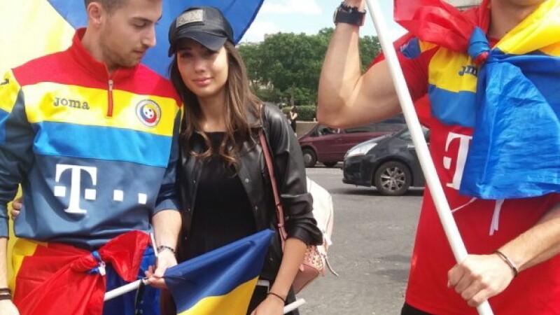 Copiii selectionerului au venit la stadion sa sustina nationala Romaniei, inainte de meciul Romania-Elvetia
