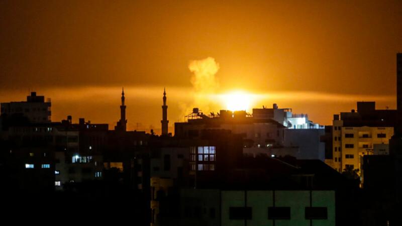 Raid israelian asupra fâşiei Gaza. Mai multe obiective ale Hamas au fost distruse
