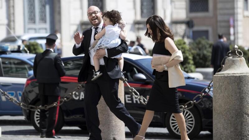 Lorenzo Fontana si familia sa