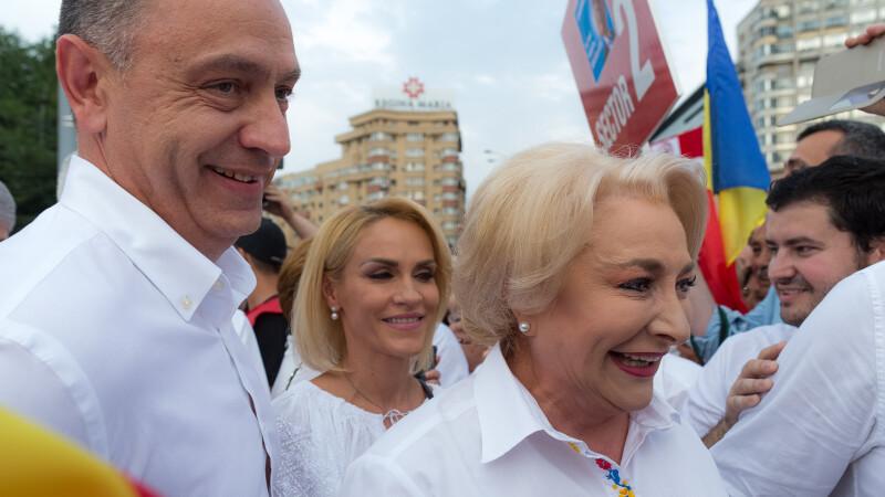 Gabriela Firea, Viorica Dăncilă, miting PSD