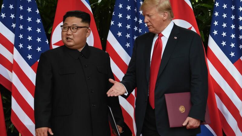 Donald Trump, Kim Jong-un