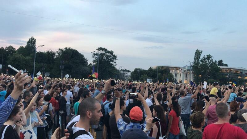 protest Piața Victoriei