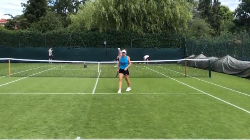 Simona Halep a intrat pe teren pentru prima dată după câștigarea Roland Garros
