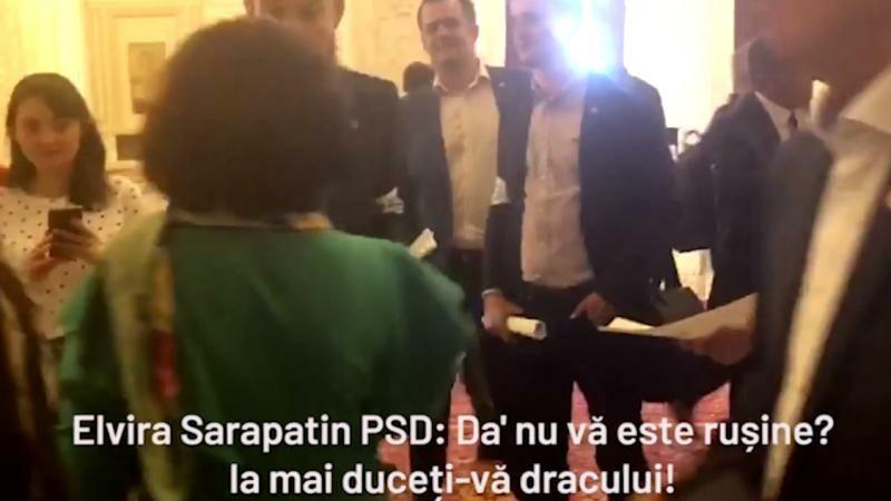 Membri USR, înjurați de o deputată PSD, pentru că au cerut demisia lui Dragnea. VIDEO