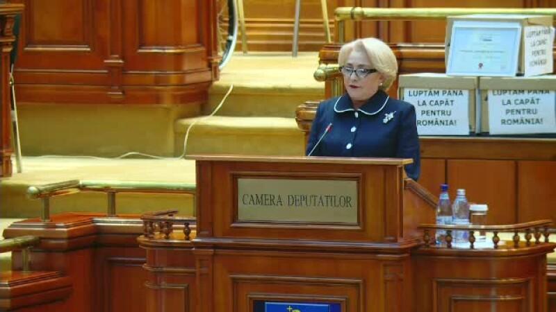 """Viorica Dăncilă, gafe în discursul din Parlament: """"Banca Monetară"""". VIDEO"""