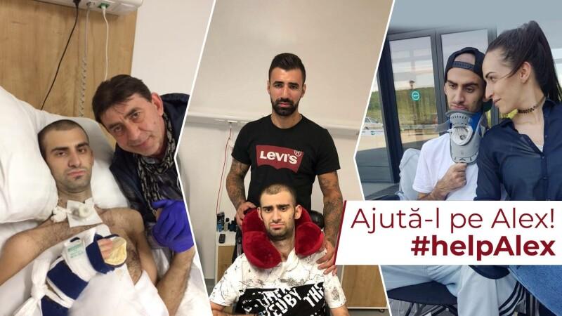 Povestea lui Alex, un tânăr de 24 de ani, victima unui accident rutier. Are nevoie de 150.000 de euro pentru recuperare