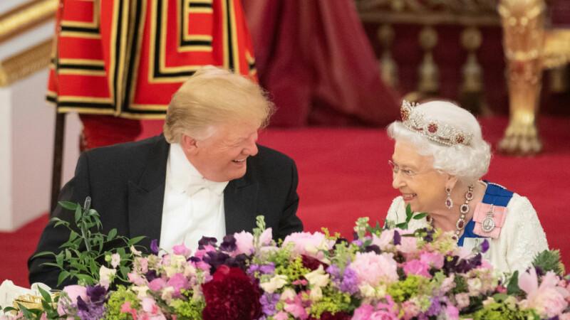 Imagini spectaculoase de la dineul oferit de Regină în cinstea lui Trump - 6