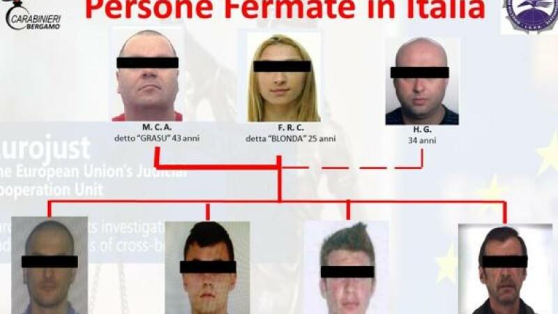 retea de trafic de persoane in Italia