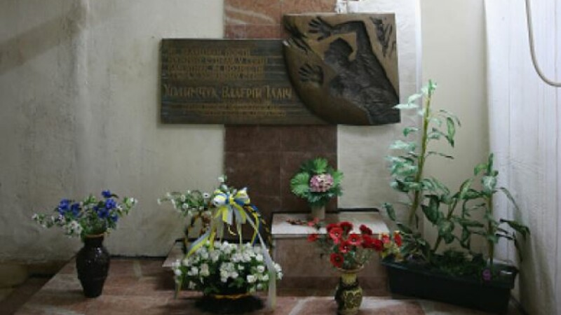 Altarul ridicat în memoria lui Valery Khodemchuk la Cernobîl