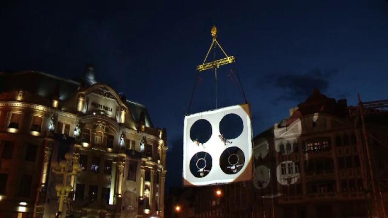 Poveste în aer la Timișoara. Coregrafii inedite la 40 de metri înălțime