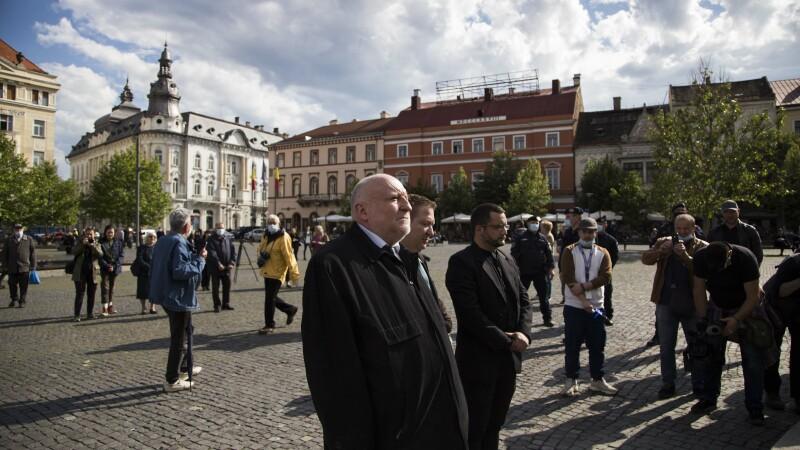 Matis Jeno participă la o ceremonie, la 100 de ani de la semnarea Tratatului de la Trianon, la Cluj-Napoca