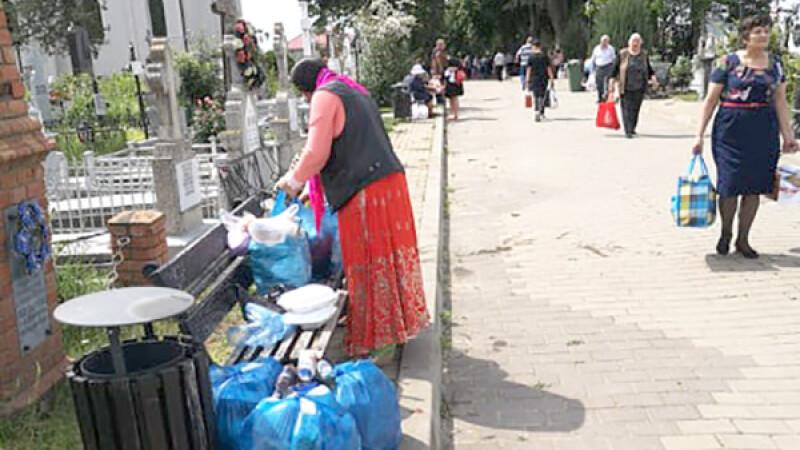Au primit atâta pomană de Rusalii că au trebuit s-o care cu taxiul acasă
