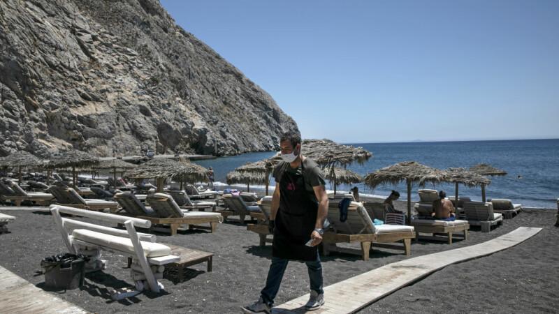 Plajă din Grecia