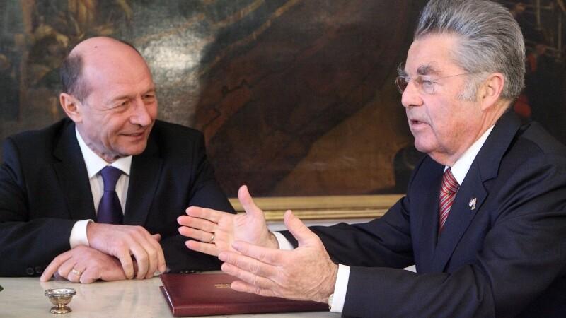 Traian Basescu si Heinz Fischer