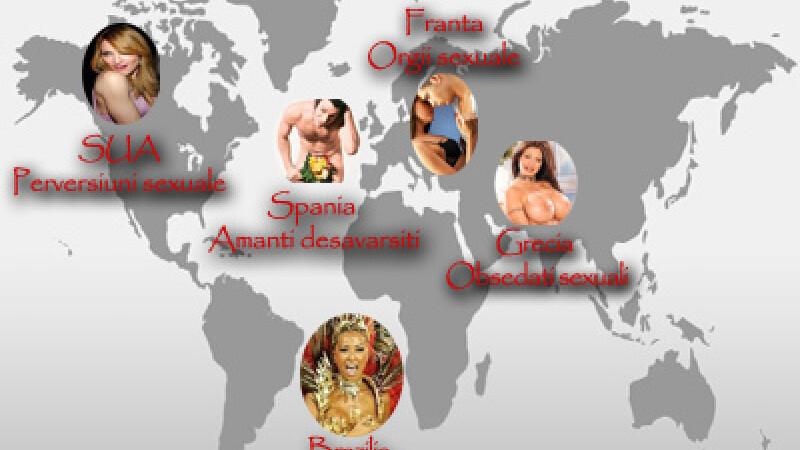 INCITANT! Franta, patria orgiilor! Vezi harta sexuala a lumii!