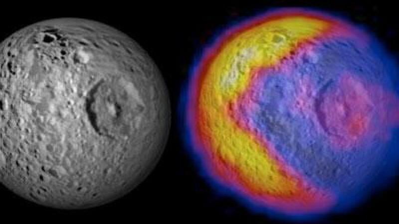 Misterele Universului - NASA a descoperit o luna incalzita ca un Pac-Man