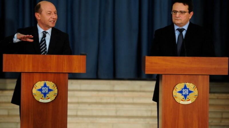 Traian Basescu si George Maior