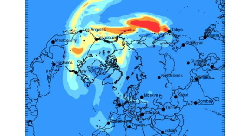 Norul radioactiv ajunge in Europa