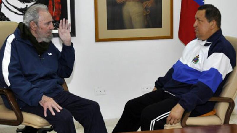 Hugo Chavez si Fidel Castro