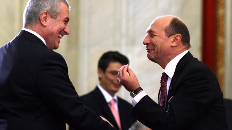 Calin Popescu Tariceanu si Traian Basescu