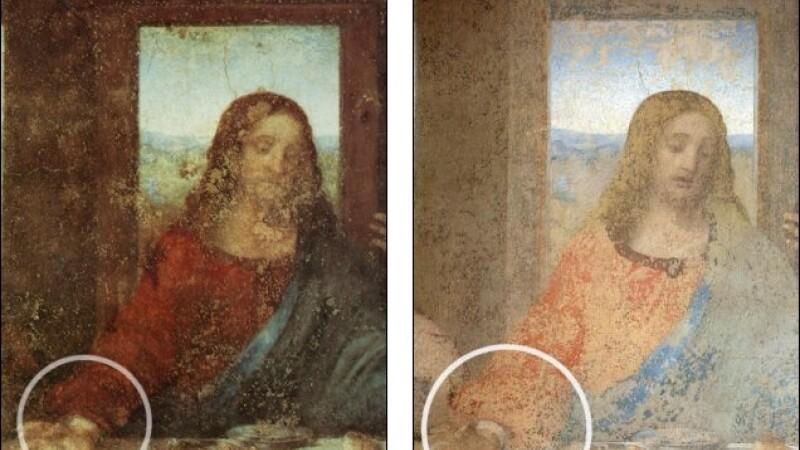 Cea mai cunoscuta pictura a lui Leonardo Da Vinci nu mai arata ca acum 500 de ani.Cine a modificat-o