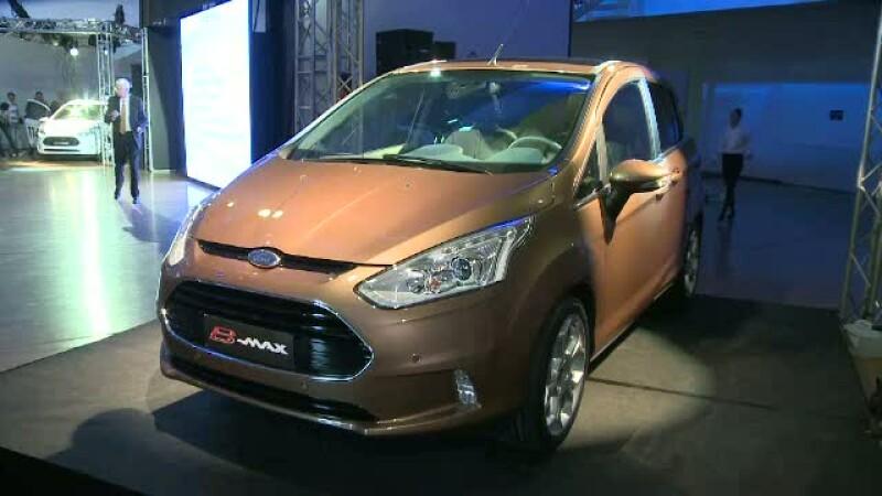 Cea mai noua masina produsa in tara noastra, la Craiova, B-MAX de la Ford, a iesit astazi in lume
