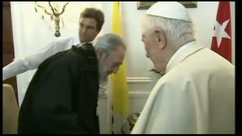 Intalnire istorica la Havana, intre Suveranul Pontif Benedict al 16-lea si comunistul Fidel Castro