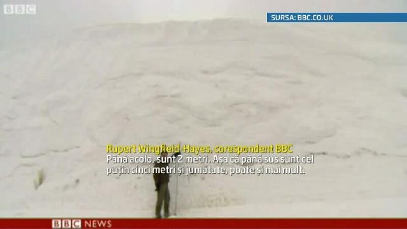 Record de ninsori in Japonia. In nordul tarii stratul de zapada a ajuns la 5,5 metri inaltime