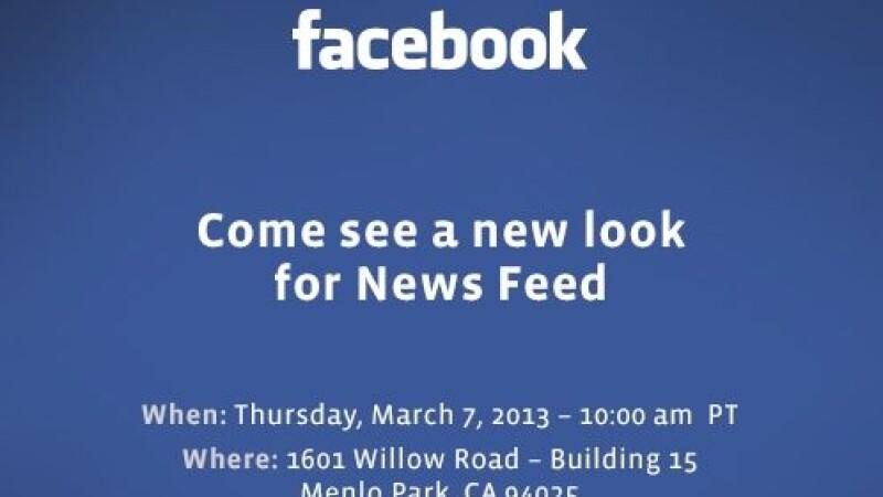 Facebook isi prezinta noul News Feed intr-un eveniment special, pe 7 martie