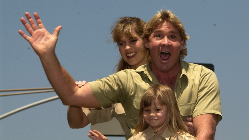 Steve Irwin cu sotia si fetita, Bindi