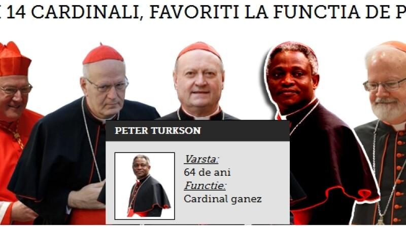 INFOGRAFIC. Cei 14 cardinali care s-au