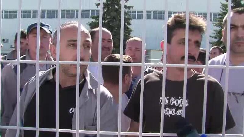 protest la uzinele Dacia, Mioveni